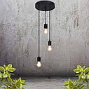 """Подвесной металлический светильник, современный стиль минимализм """"CEILING-3"""" Е27 черный цвет, фото 9"""