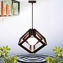 """Подвесная люстра """"MOBIUS"""" Е27 натуральное дерево/темный цвет/loft освещение, фото 5"""