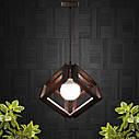"""Подвесная люстра """"MOBIUS"""" Е27 натуральное дерево/темный цвет/loft освещение, фото 6"""