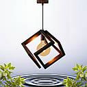 """Подвесная люстра """"MOBIUS"""" Е27 натуральное дерево/темный цвет/loft освещение, фото 7"""