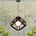 """Подвесная люстра """"MOBIUS"""" Е27 натуральное дерево/темный цвет/loft освещение, фото 8"""