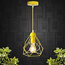 """Подвесной металлический светильник, современный стиль, loft, vintage, modern style """"RUBY-E"""" Е27  желтый цвет, фото 2"""