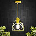 """Подвесной металлический светильник, современный стиль, loft, vintage, modern style """"RUBY-E"""" Е27  желтый цвет, фото 3"""