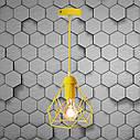 """Подвесной металлический светильник, современный стиль, loft, vintage, modern style """"RUBY-E"""" Е27  желтый цвет, фото 4"""
