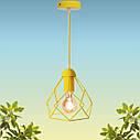 """Подвесной металлический светильник, современный стиль, loft, vintage, modern style """"RUBY-E"""" Е27  желтый цвет, фото 5"""