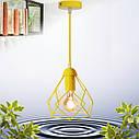 """Подвесной металлический светильник, современный стиль, loft, vintage, modern style """"RUBY-E"""" Е27  желтый цвет, фото 6"""
