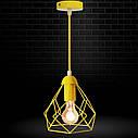 """Подвесной металлический светильник, современный стиль, loft, vintage, modern style """"RUBY-E"""" Е27  желтый цвет, фото 8"""