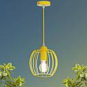 """Подвесной металлический светильник, современный стиль """"BARREL-E"""" Е27  желтый цвет, фото 4"""