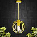 """Подвесной металлический светильник, современный стиль """"BARREL-E"""" Е27  желтый цвет, фото 6"""