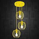 """Подвесной металлический светильник, современный стиль """"BARREL-3GЕ"""" Е27   желтый цвет, фото 2"""