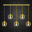 """Подвесной металлический светильник, современный стиль """"BARREL-5Е"""" Е27  желтый цвет, фото 2"""