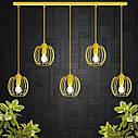 """Подвесной металлический светильник, современный стиль """"BARREL-5Е"""" Е27  желтый цвет, фото 3"""