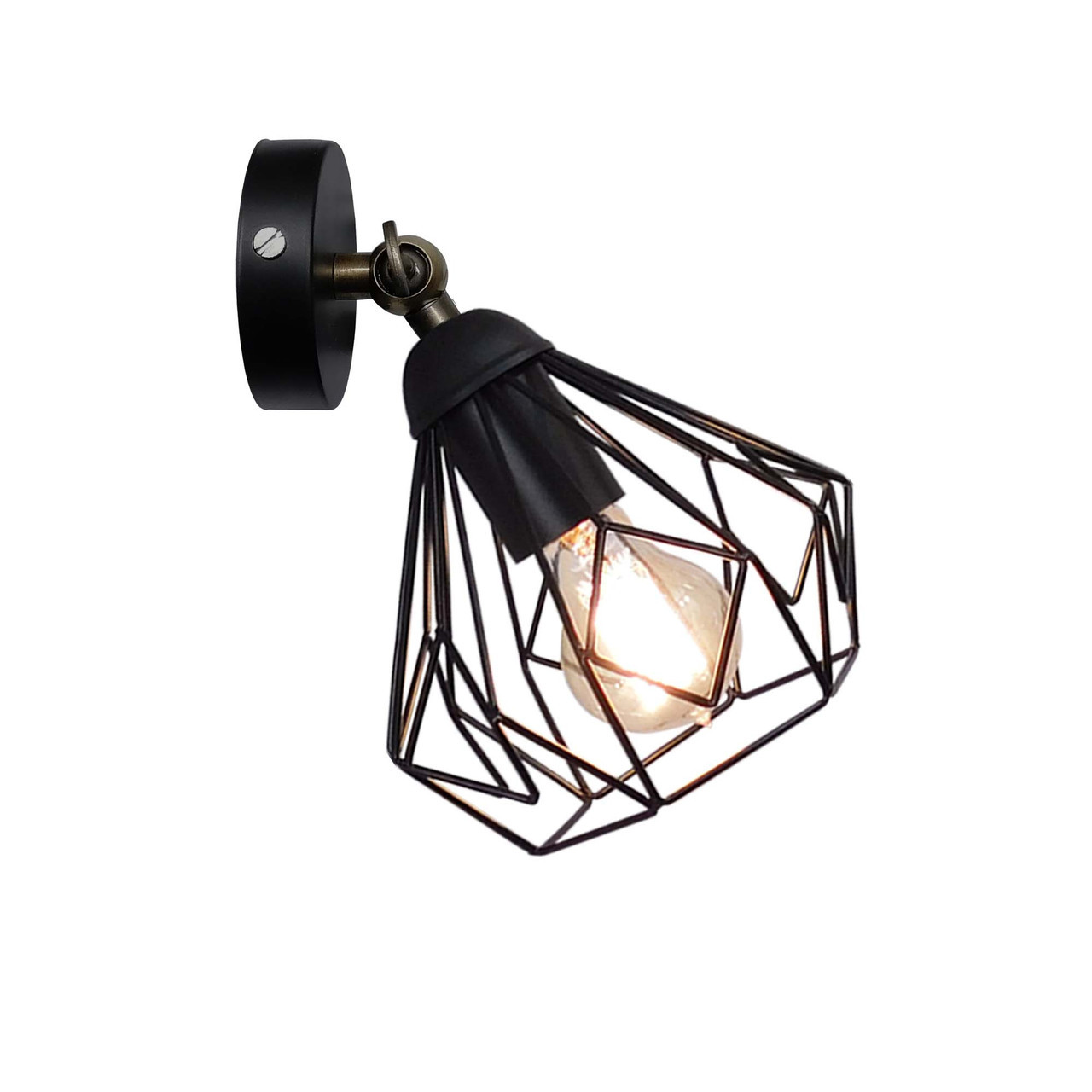 """Настенный светильник / бра лофт / потолочная лампа / на одну лампу / индустриальный стиль / """"SKRAB/LS"""" черный"""