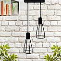 """Подвесной металлический светильник, современный индустриальный стиль """"CARAT-2"""" Е27  черный цвет, фото 2"""