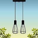 """Подвесной металлический светильник, современный индустриальный стиль """"CARAT-2"""" Е27  черный цвет, фото 3"""