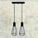 """Подвесной металлический светильник, современный индустриальный стиль """"CARAT-2"""" Е27  черный цвет, фото 6"""