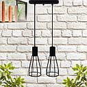 """Подвесной металлический светильник, современный индустриальный стиль """"CARAT-2"""" Е27  черный цвет, фото 7"""