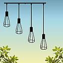 """Подвесной металлический светильник, современный индустриальный стиль """"CARAT-4"""" Е27  черный цвет, фото 4"""