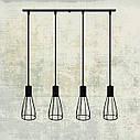 """Подвесной металлический светильник, современный индустриальный стиль """"CARAT-4"""" Е27  черный цвет, фото 5"""