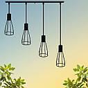 """Подвесной металлический светильник, современный индустриальный стиль """"CARAT-4"""" Е27  черный цвет, фото 7"""