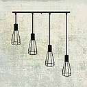 """Подвесной металлический светильник, современный индустриальный стиль """"CARAT-4"""" Е27  черный цвет, фото 8"""