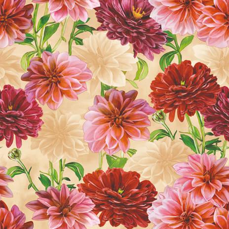 Клеенка на стол и стены с яркими цветами, фото 2