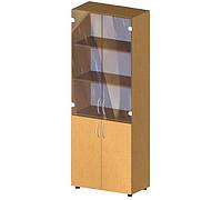 Шкаф для бумаг со стеклом БЮ 418, 700х347х1825