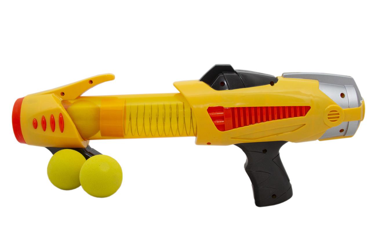 Набор игровой: автомат + 6 мягких шариков, Желтый (DSS11013-1)
