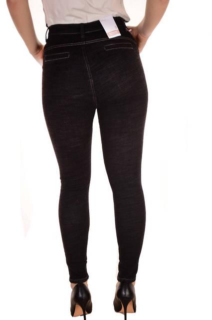Черные скинни джинсы оптом Premium 4286  (лот 12шт по 16Є) 163