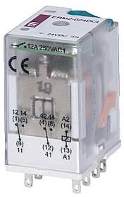 Реле промежуточное ETI ERM2-024DCL 2P 24V DC 12А LED 2473001 (электромеханическое)