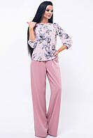 Изысканный женский брючный костюм Mirei  (42–52р) розовый