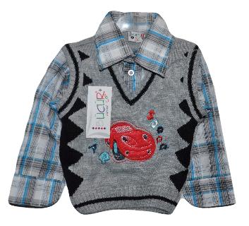 """Комплект """"Двойка"""" для мальчика (рубашка с жилеткой)1-2 года.Детская одежда оптом"""
