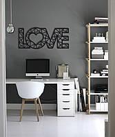 Оригинальный настенный декор геометрическая абстракция из дерева «Love»