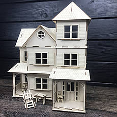 Оригинальный деревянный домик для кукол, фото 2