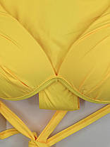 Купальник с бразилиана Kesell 2144 желтый на 42 44 46 48 50 размер, фото 3