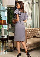 / Размер 42 / Женское молодежное платье прилегающего силуэта / цвет темно серый, фото 2