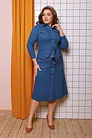 Женское джинсовое платье большого размера.Размеры:48-58.+Цвета, фото 1