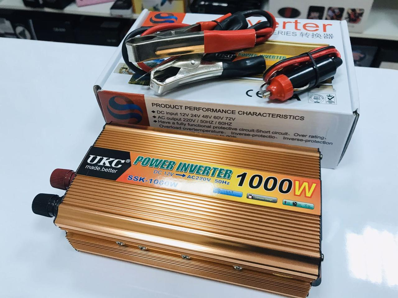 Преобразователь 1000W 12V-220V UKC  Лучшая цена!