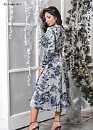 / Размер 44,46 / Женское платье из велюрового трикотажа приталенного силуэта, фото 2