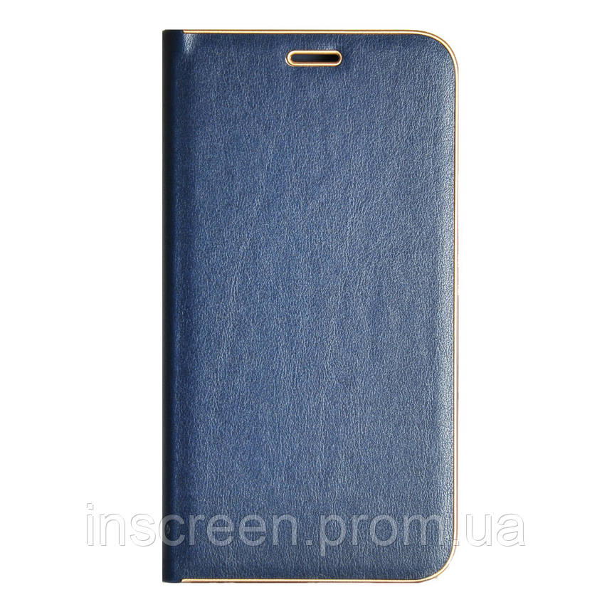 Чохол-книжка Florence TOP 2 Samsung J400 J4 (2018) під шкіру синій, фото 2