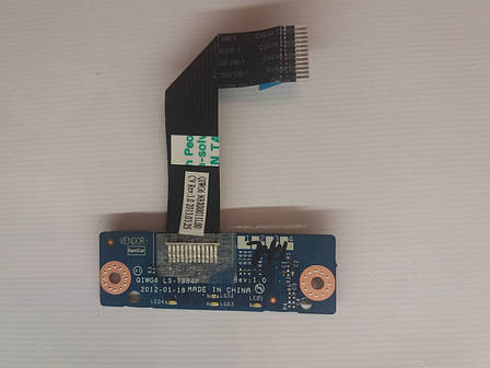 Б/У плата кнопок тачпада для ноутбука LENOVO G580 G585, фото 2