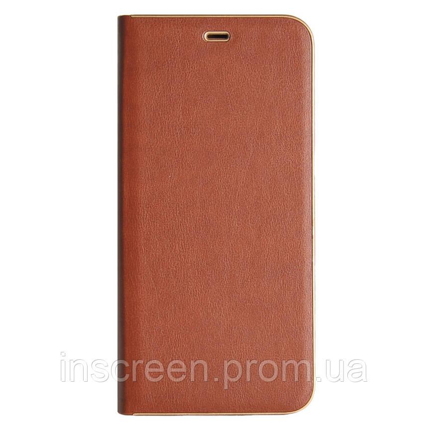 Чохол-книжка Florence TOP 2 Samsung A307F,A505F A30s,A50 (2019) під шкіру коричневий, фото 2
