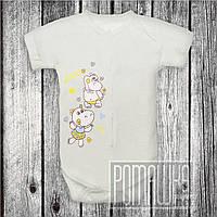 Детский боди футболка р 86 8-12 мес бодик короткий рукав для новорожденных малышей КУЛИР 3087 Бежевый