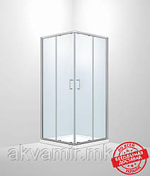 Душевая кабина Dusel А-513, 90х90х190, двери раздвижные, стекло прозрачное