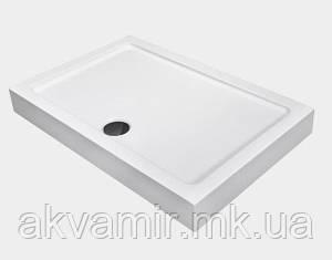 Душевой поддон Dusel D104 прямоугольный, 120х80х13,5 см