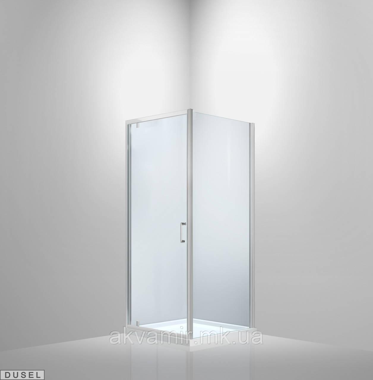Душевая кабина Dusel А-516, 100х100х190, дверь распашная, стекло прозрачное