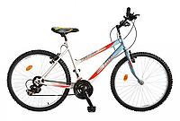 """Велосипед багатошвидкісний 24"""" TEENAGER модель 47 SH ХВЗ Біло-синій"""