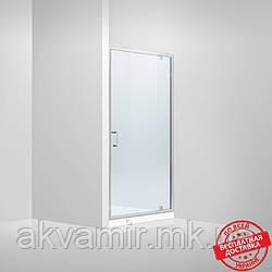 Душевая дверь в нишу Dusel FА-516, 100х190, дверь распашная, стекло прозрачное