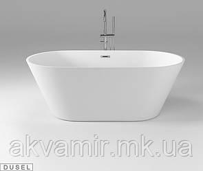 Отдельностоящая акриловая ванна с ножками Dusel DU103, 1700x800х580 мм
