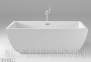 Отдельностоящая акриловая ванна с ножками Dusel DU108, 1700x800х580 мм